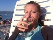 domestic wine on the beach ... as you do