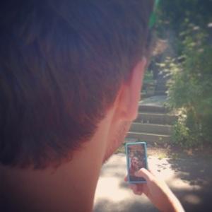 hashtag selfie square